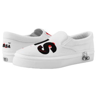 SBSA White black and Red Slip on Tennis Shoes Printed Shoes
