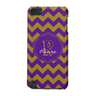 SC Monogram Chevron,Purple-Gold iPod Touch 5g Case