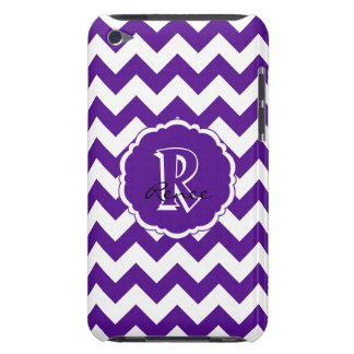 SC Monogram Chevron,Purple-White iPod Touch 4g iPod Touch Cases