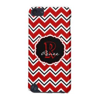 SC Monogram Chevron Red White Black iPod 5g Case iPod Touch (5th Generation) Cover