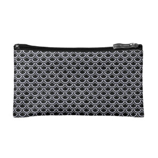 SCA2 BK-WH MARBLE COSMETIC BAGS
