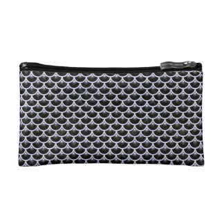 SCA3 BK-WH MARBLE MAKEUP BAGS