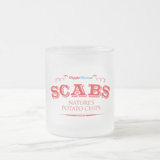 Scabs: Nature's Potato Chips Frosted Glass Coffee Mug