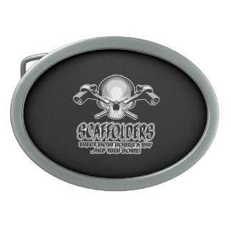Scaffolder Skull: Scaffolding Humor Belt Buckle