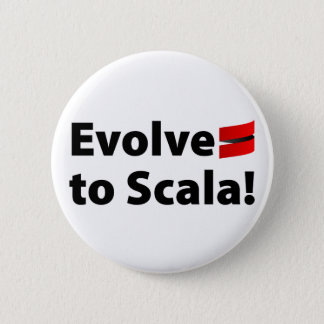 Scala Button, Evolve Logo 6 Cm Round Badge