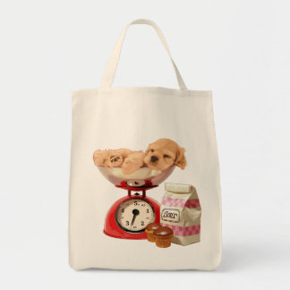 Scale cocker spaniel tote bag