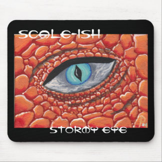 Scale-ish , Stormy eye mouse pad