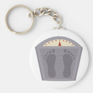Scale Basic Round Button Key Ring