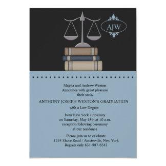 Scale of Justice Blue, Law School Invitation
