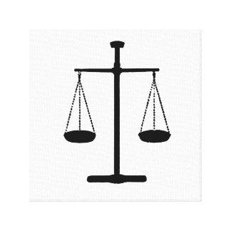 scale of justice canvas print