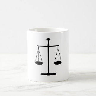 scale of justice coffee mug