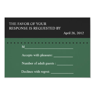 Scale of Justice Green, Law School RSVP card 9 Cm X 13 Cm Invitation Card