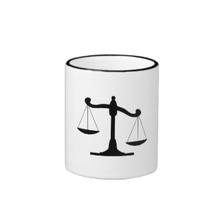 Scale Of Justice Coffee Mugs