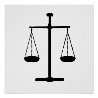 scale of justice poster