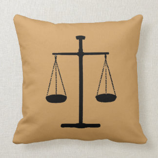 scale of justice throw pillow