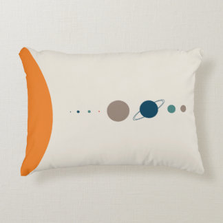 Scale of the Solar System Space Exploration Decorative Cushion