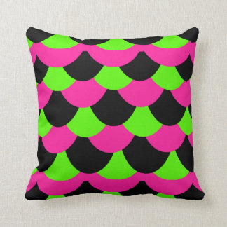 Scale Pattern-Hot Pink/Lime Cushion