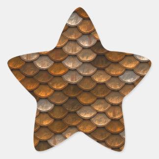 Scale Pattern Star Sticker