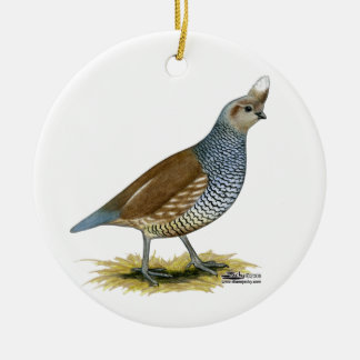 Scaled Quail Ceramic Ornament