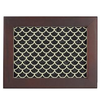 SCALES1 BLACK MARBLE & BEIGE LINEN KEEPSAKE BOX