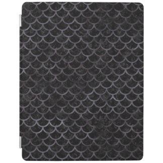 SCALES1 BLACK MARBLE & BLACK WATERCOLOR iPad COVER