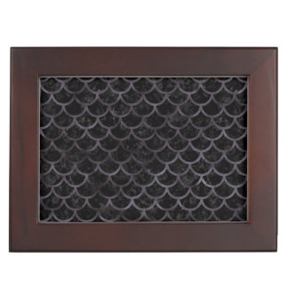 SCALES1 BLACK MARBLE & BLACK WATERCOLOR KEEPSAKE BOX