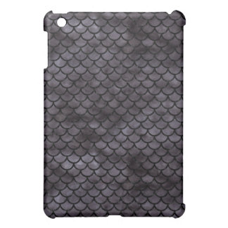 SCALES1 BLACK MARBLE & BLACK WATERCOLOR (R) COVER FOR THE iPad MINI