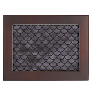 SCALES1 BLACK MARBLE & BLACK WATERCOLOR (R) KEEPSAKE BOX