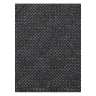 SCALES1 BLACK MARBLE & BLACK WATERCOLOR TABLECLOTH