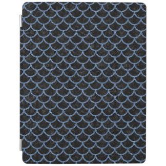 SCALES1 BLACK MARBLE & BLUE DENIM iPad COVER