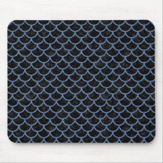 SCALES1 BLACK MARBLE & BLUE DENIM MOUSE PAD