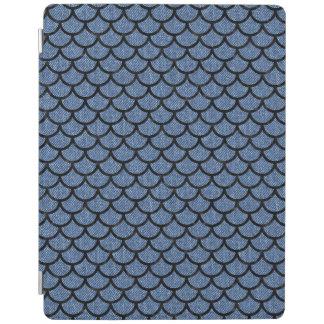 SCALES1 BLACK MARBLE & BLUE DENIM (R) iPad COVER
