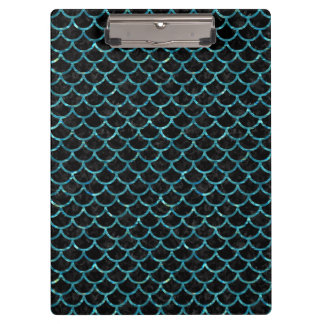 SCALES1 BLACK MARBLE & BLUE-GREEN WATER CLIPBOARD