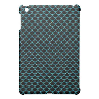 SCALES1 BLACK MARBLE & BLUE-GREEN WATER COVER FOR THE iPad MINI