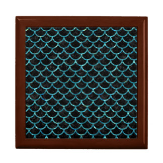 SCALES1 BLACK MARBLE & BLUE-GREEN WATER GIFT BOX
