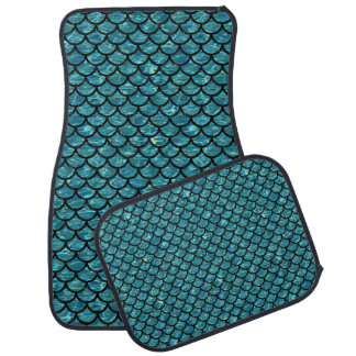 SCALES1 BLACK MARBLE & BLUE-GREEN WATER (R) CAR MAT