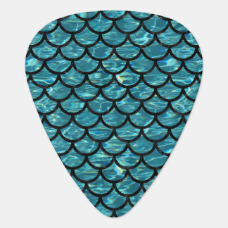 SCALES1 BLACK MARBLE & BLUE-GREEN WATER (R) PLECTRUM