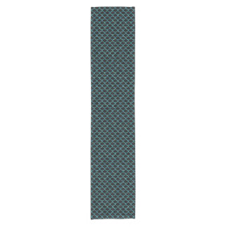 SCALES1 BLACK MARBLE & BLUE-GREEN WATER SHORT TABLE RUNNER