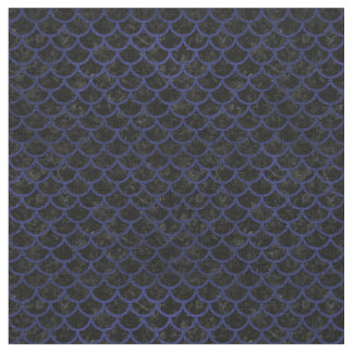 SCALES1 BLACK MARBLE & BLUE LEATHER FABRIC