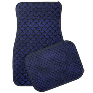 SCALES1 BLACK MARBLE & BLUE LEATHER (R) CAR MAT