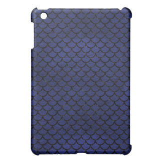 SCALES1 BLACK MARBLE & BLUE LEATHER (R) iPad MINI COVERS