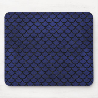 SCALES1 BLACK MARBLE & BLUE LEATHER (R) MOUSE PAD