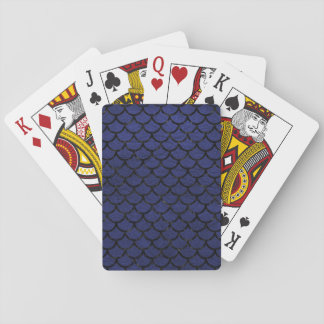 SCALES1 BLACK MARBLE & BLUE LEATHER (R) PLAYING CARDS