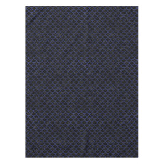 SCALES1 BLACK MARBLE & BLUE LEATHER TABLECLOTH