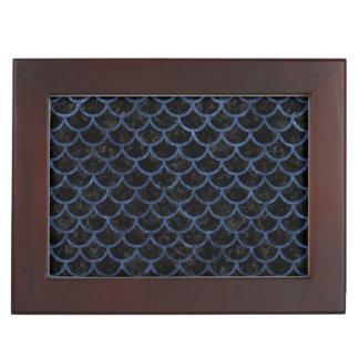 SCALES1 BLACK MARBLE & BLUE STONE KEEPSAKE BOX