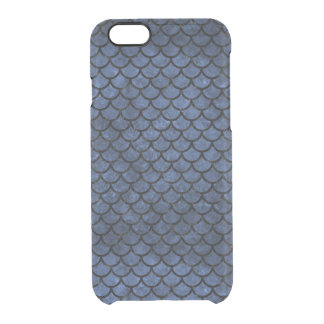 SCALES1 BLACK MARBLE & BLUE STONE (R) CLEAR iPhone 6/6S CASE