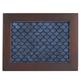 SCALES1 BLACK MARBLE & BLUE STONE (R) KEEPSAKE BOX
