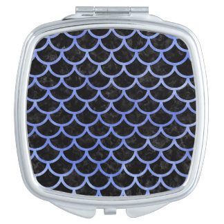 SCALES1 BLACK MARBLE & BLUE WATERCOLOR MAKEUP MIRROR