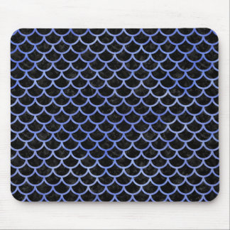 SCALES1 BLACK MARBLE & BLUE WATERCOLOR MOUSE PAD