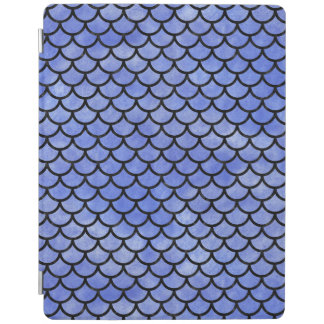 SCALES1 BLACK MARBLE & BLUE WATERCOLOR (R) iPad COVER